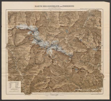 Karte des Sonnblick und Umgebung