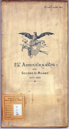 25° Anniversario della Sezione di Milano 1873-1898
