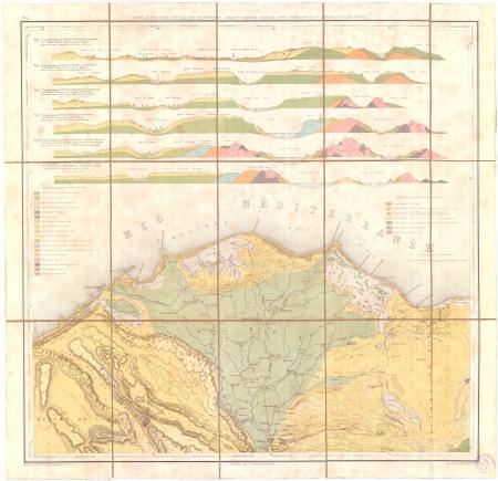 Feuille 2: *Isthme de Suez, Delta nilotique avec les territoires adjacents et seconde série des coupes géologiques de la moyenne et basse Egypte