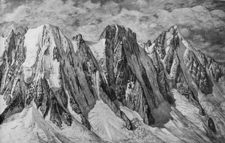 [Alpi, Gruppo del Monte Bianco: Les Courtes, Les Droites e Aiguille Verte]