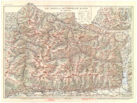 Ski-Karte der Kitzbüheler Alpen. Östl. Blatt