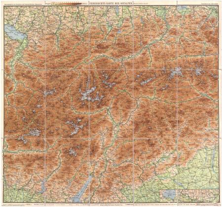 Westiches Blatt : [*Karte von Tirol und Vorarlberg, nebst Teilen der Schweiz und Oberitaliens]