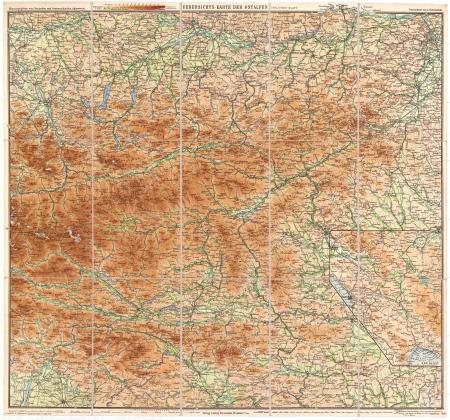 Östliches Blatt : [*Karte für das Salzkammergut, sowie Tauern, Steiermark, Karawanken und Karst]