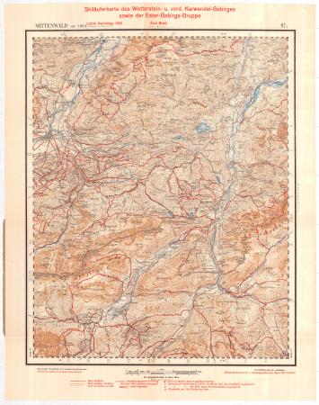 Skiläuferkarte des Wetterstein- u. vord. Karwendel-Gebirges sowie der Ester-Gebirgs-Gruppe : Östl. Bl.