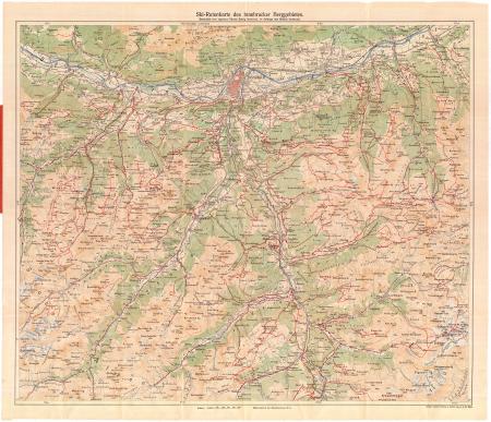 Ski-Rutenkarte des Innsbrucker Berggebietes