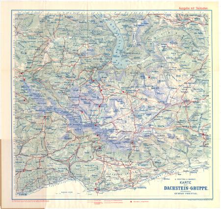 Karte der Dachstein-Gruppe