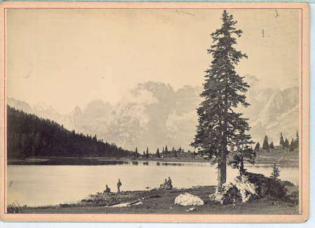 Süd-Tyrol und Venetien. Lago di Misurina mit Antelao Sorapiss etc.