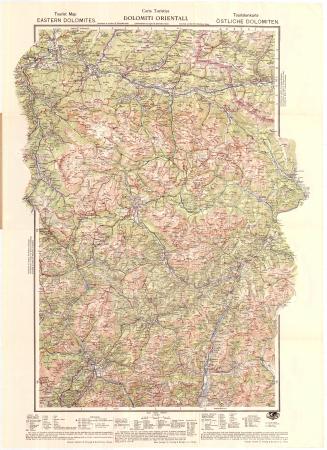 Dolomiti Orientali : carta turistica