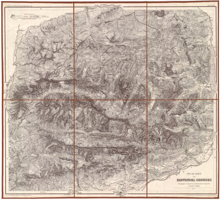 Special-Karte des Karwendel Gebirges