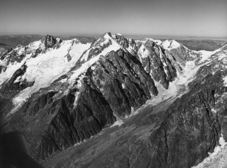 [Gruppo del Monte Bianco, Aiguille des Glaciers, Aiguilles de Trélatête, Glacier Trélatête, e Ghiacciaio del Miage]