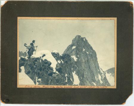 Cima della Maledia dalla parete sud-ovest (Alpi Maritt.)