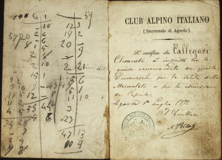 Clemente Callegari : 8 luglio 1871-1 ottobre 1874