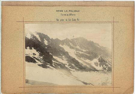 Dans Le Pelvoux - Torrent de St. Pierre - Vue prise du Col Emile Pic
