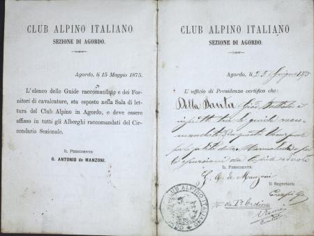 Giovanni Battista Della Santa : 3 agosto 1875-9 agosto 1900