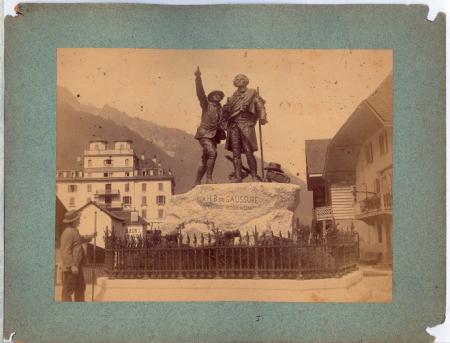 Inauguration du monument à De Saussure à Chamonix