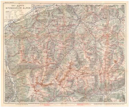 Ski-Karte der Kitzbüheler Alpen. Westl. Blatt