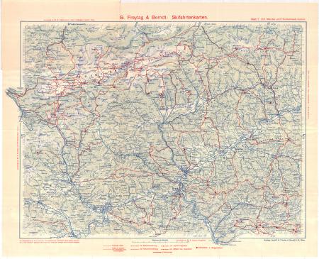 G. Freytag & Berndt's Schifahrtenkarten : Blatt 7: *Unteres Mürztal und Hochschwab-Gebiet