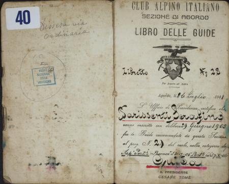 Serafino Parissenti : 7 agosto 1911-9 settembre 1920