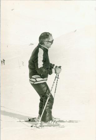 Le Roi Hussein à la neige