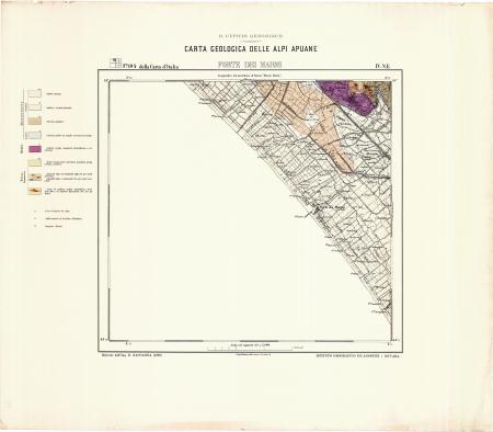 Forte dei Marmi : *F.° 104 della Carta d'Italia IV NE