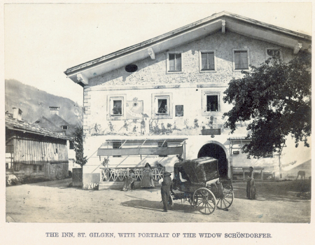 The Inn, St. Gilgen, with portrait of the widow Schöndorfer