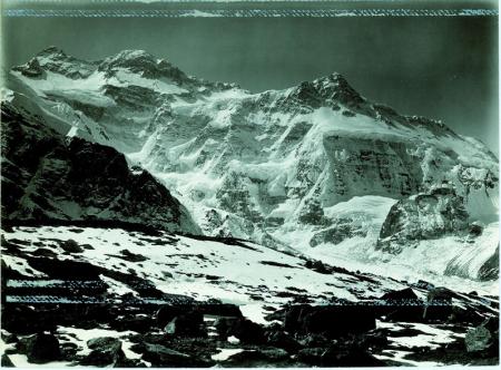 Kangchenjunga, panorama dal lato sinistro del ghiacciaio [Kauchin] a 5000 m