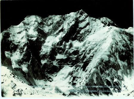 Kangchenjunga, da 17 km, dal lato sinistro del ghiacciaio Zemu