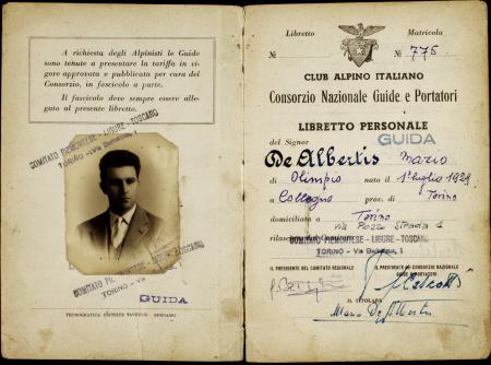 Libretto personale guida Mario De Albertis : 18 agosto 1950-1 maggio 1965