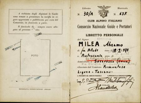 Libretto personale guida Abramo Milea : 2 ottobre 1948-19 maggio 1955