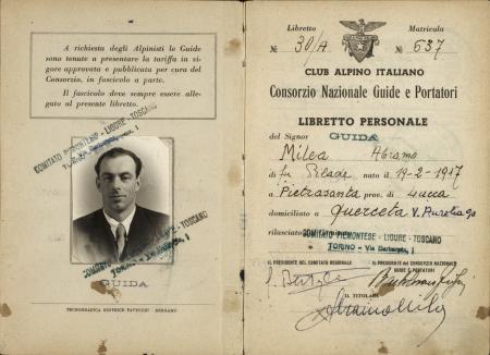 Libretto personale guida Abramo Milea : 11 agosto 1955-11 settembre 1971