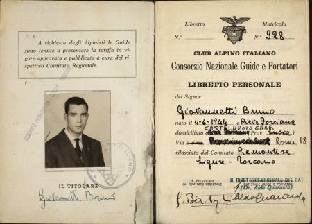 Libretto personale Bruno Giovannetti : 1 aprile 1965-1975