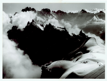 Veduta dall'Aiguille du Midi