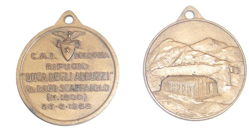 """C.A.I. Bologna Rifugio """"Duca degli Abruzzi"""" al Lago Scaffaiolo (M. 1800) 26-6-1966"""