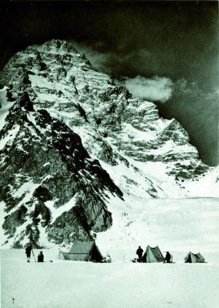 K2, veduta dal ghiacciaio Savoia del versante ovest