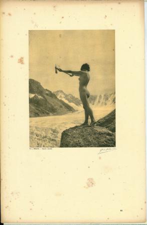 Vingt études de Nu en plein air / G[eorges] L[ouis] Arlaud. [L'appel de la montagne (Glacier d'Argentières)]