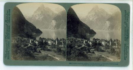 (14) Sisikon and the mighty Uri-Rothstock (9.620 feet), Switzerland