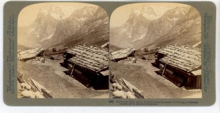 (30) Grindelwald Valley and the Wetterhorn from the summit of Scheidegg, Switzerland