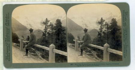 (40) Bella Vista, Piz Bernina and Morterasch Glacier, Engadine, Switzerland