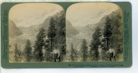 (58) Wonderful frozen Cataract, The Gorner Glacier and Monte Rosa Group, Switzerland
