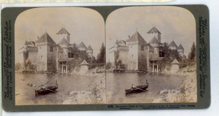 (73) The Ancient Castle of Chillon - celebrated prison of Bonnivard - Lake Geneva, Switzerland