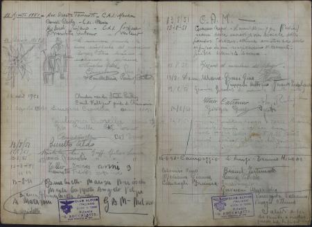 Libro del Rifugio Giovanni Boccalatte alle Jorasses : 11 agosto 1951-26 agosto 1954