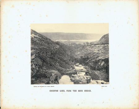 [Coniston lake, from the Mine bridge]
