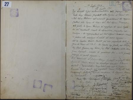 Rifugio-Albergo Gastaldi : registro dei viaggiatori : 17 luglio 1910-16 settembre 1912