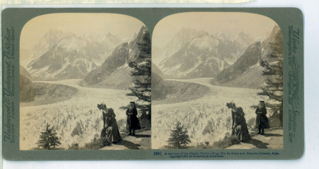 (94) 1829 - A remnant of the Glacial Period - Huge Mer de Glace and Grandes Jorasses, Alps
