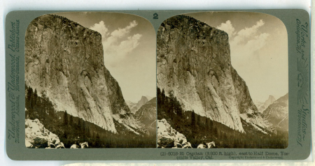 (2) 6018 - El Capitan (3,300 ft. high), east to Half Dome, Yosemite Valley, Cal.