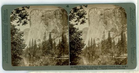(4) 6020 - El Capitan, a granite mountain 3,300 ft. high (N.W.) - Yosemite Valley , Cal.