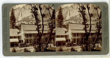 (8) 6024 - Amidst Yosemite's charms - Sentinel Hotel, looking N. to Yosemite Falls, Cal.