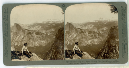(10) 6026 - The Valley, Half Dome, Nevada Falls, Cap of Liberty and imposing Sierras, Yosemite, Cal.