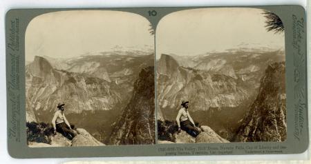 (10) 6026 - The Valley, Half Dome, Nevada Falls, Cap of Liberty and imposing Sierras, Yosemite, Cal.