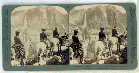 (11) 6027 - Yosemite Falls, from Glacier Point trail, Yosemite Valley, Cal.